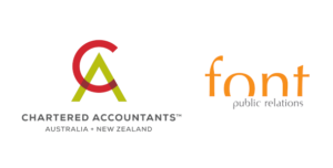 Proudly supported by Chartered Accountants Australia & New Zealand and Font PR